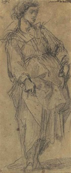 a standing female figure by giovanni battista di matteo naldini