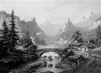 schweizer gebirgslandschaft by a. gins