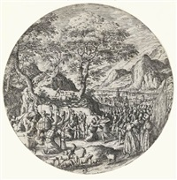 the reconciliation between esau and jacob by hans bol