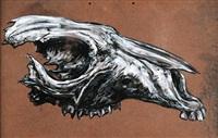 red kangaroo skull by roa