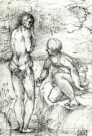 the baptism of christ by romanino girolamo romani