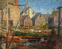 fishing village by yarnall abbott