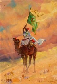 beduin ze sztandarem proroka by aleksander laszenko