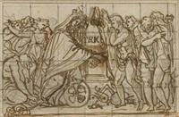 projet antique (+ etude de figures, verso) by andrea appiani