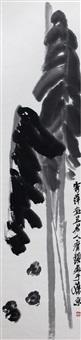 芭蕉群鸡 by qi baishi