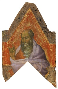 a bearded saint, probably a prophet by simone martini