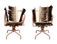 feathered chairs (2 works) by rosalie gascoigne