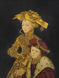 portrait of a lady and her son, traditionally identified as sibylle of cleves (1512-1554) and one of her sons: the lady by franz wolfgang rohrich