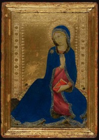 the virgin annunciate by simone martini