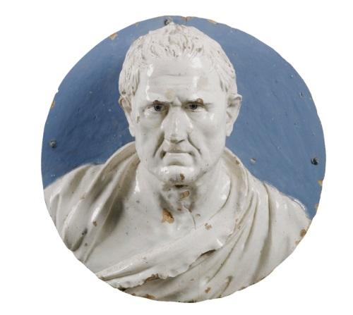 bust of menander by giovanni della robbia
