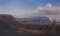 figures in an extensive greek landscape by eduard metzger