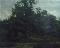 paysage boisé by gustave allemand