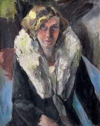 femme au col de fourrure by edith auerbach