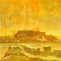 city mirage, mojave desert by leonard rosoman