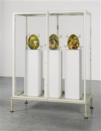 untitled (showcase with egg sculptures) by martin kippenberger