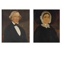 portraits of mr. greeley, explorer (+ mrs. greeley; 2 works) by william matthew prior