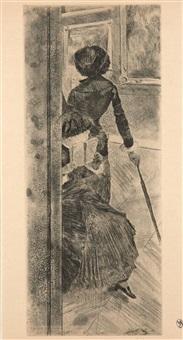 au louvre, la peinture, mary cassatt by edgar degas