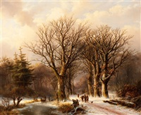 winter in the reichswald by johann bernard klombeck