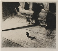 night shadows by edward hopper