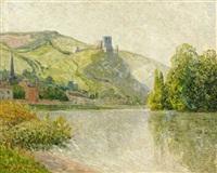chateau-gaillard, les andelys, effet du matin by maxime maufra