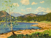 lake in a california landscape by ferdinand kaufmann
