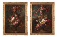 vases de fleurs en pendant by gaspar pieter verbruggen the younger