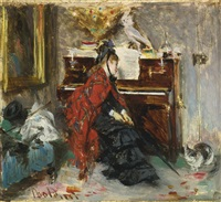 woman at the piano by giovanni boldini