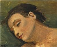 tête de femme endormie by andré derain
