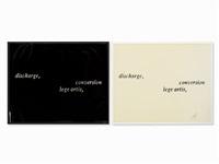 discharge, conversation, lege artis by joseph kosuth