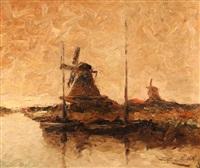 canal, molinos y barcas by stephen koek koek
