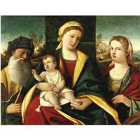 madonna col bambino e santi by francesco rizzo da santacroce