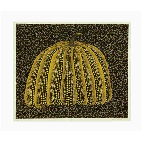 pumpkin yellow by yayoi kusama