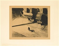 night shadows from 'corner saloon' by edward hopper
