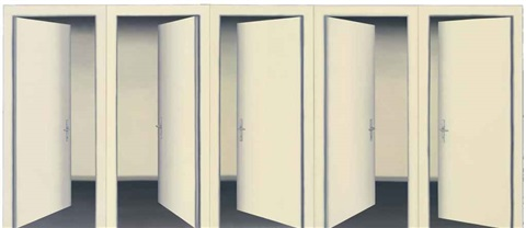 5 türen ii 5 doors ii in 5 parts by gerhard richter