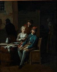 couples attablés (pair) by jan baptist lambrechts
