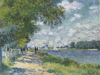 la seine à argenteuil by claude monet
