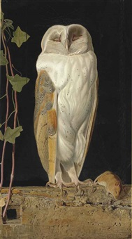 the white owl. alone and warming his five wits, the white owl in the belfry sits by william j. (webbe) webb