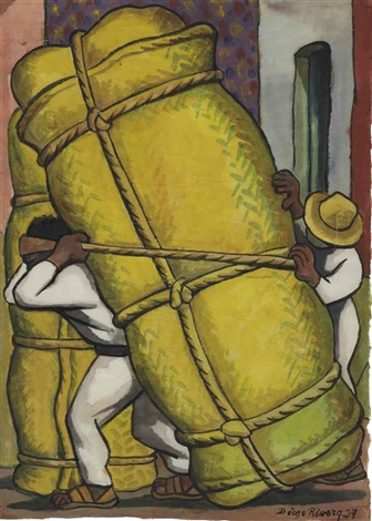 cargadores by diego rivera