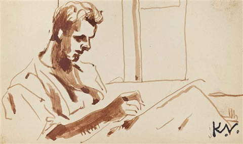 soldier writing home by keith vaughan
