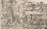 the deluge (2 works) by jan van scorel