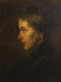 portrait of woman by jozef israëls