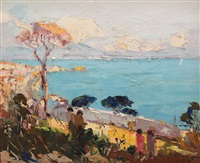 sea at naples by rudolph negely