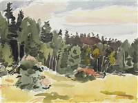 the clearing--north meadow by fairfield porter