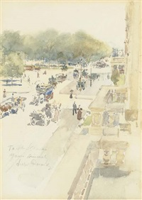 fifth avenue and 59th street by victor simon perard