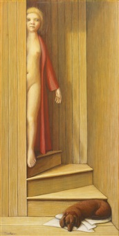 the stairway by george tooker