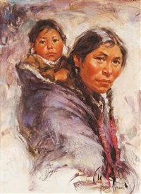 untitled - mother and child by harley brown