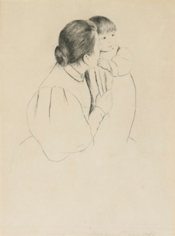 peasant mother and child by mary cassatt
