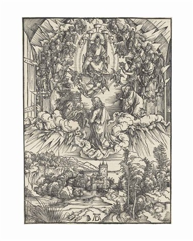 saint john before god and the elders, from: the apocalypse by albrecht dürer