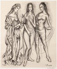 the three graces by léonard tsuguharu foujita
