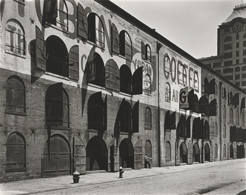 yuban warehouse, water and dock streets, brooklyn, may 22 by berenice abbott